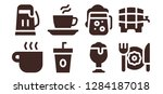 mug icon set. 8 filled mug...   Shutterstock .eps vector #1284187018