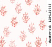 seamless pattern with corals.... | Shutterstock .eps vector #1284189985