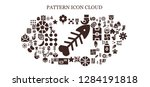pattern icon set. 93 filled...