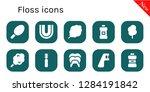 floss icon set. 10 filled... | Shutterstock .eps vector #1284191842
