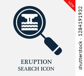 eruption search icon. editable... | Shutterstock .eps vector #1284191932