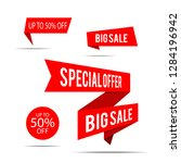 set of sale banners. red... | Shutterstock .eps vector #1284196942