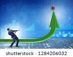 businessman supporting economic ... | Shutterstock . vector #1284206032