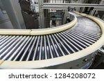 metal conveyor belt... | Shutterstock . vector #1284208072
