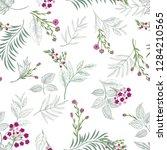 floral seamless pattern. garden ... | Shutterstock .eps vector #1284210565