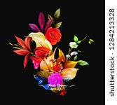 bouquet floral illustration.... | Shutterstock .eps vector #1284213328