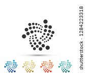 cryptocurrency coin iota miota...   Shutterstock . vector #1284223318