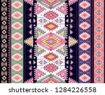 indian rug tribal ornament... | Shutterstock .eps vector #1284226558