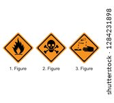 flammable substance   toxic... | Shutterstock .eps vector #1284231898