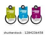 infographic vector elements for ... | Shutterstock .eps vector #1284236458