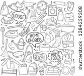 chores home traditional doodle... | Shutterstock .eps vector #1284239308