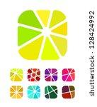 design logo element. crushing... | Shutterstock .eps vector #128424992