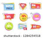 big super sale promotional... | Shutterstock . vector #1284254518