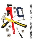 tools for a handyman | Shutterstock . vector #128425838