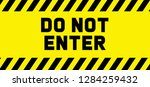 stop signs do not enter danger... | Shutterstock .eps vector #1284259432