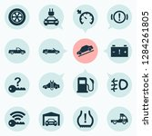 automobile icons set with... | Shutterstock .eps vector #1284261805