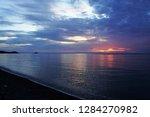 Purple Sky Above The Sea Durin...
