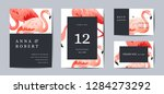 wedding invitation card... | Shutterstock .eps vector #1284273292