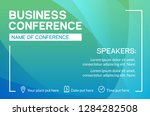 business conference simple... | Shutterstock .eps vector #1284282508