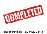 completed vector grunge red...   Shutterstock .eps vector #1284282595