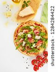 freshly baked prosciutto ... | Shutterstock . vector #1284284422