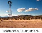 windmill in new mexico landscape | Shutterstock . vector #1284284578
