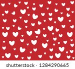 white different size hearts in... | Shutterstock .eps vector #1284290665