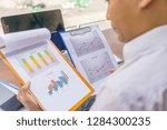 rear view of businessman... | Shutterstock . vector #1284300235