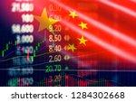 china stock market   shanghai... | Shutterstock . vector #1284302668