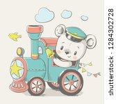 vector cartoon illustration of... | Shutterstock .eps vector #1284302728