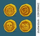 set of cartoon gold coins.game...