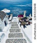 santorini island  greece  ... | Shutterstock . vector #1284310648