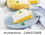 tart with lemon curd  and... | Shutterstock . vector #1284313408