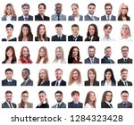 collage of portraits of... | Shutterstock . vector #1284323428