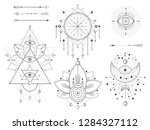 vector set of sacred geometric... | Shutterstock .eps vector #1284327112