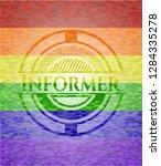 informer emblem on mosaic...   Shutterstock .eps vector #1284335278