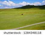 green alpine meadows in the... | Shutterstock . vector #1284348118