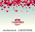 happy valentine's day text as... | Shutterstock . vector #1284359008