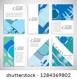 set of a4 cover  abstract...   Shutterstock .eps vector #1284369802