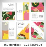 set of a4 cover  abstract...   Shutterstock .eps vector #1284369805