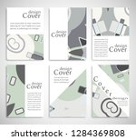 set of a4 cover  abstract...   Shutterstock .eps vector #1284369808