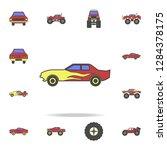 drug racing car field coloricon....   Shutterstock .eps vector #1284378175