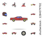 drug racing car field coloricon....   Shutterstock .eps vector #1284379702