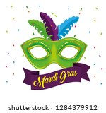 mardi gras celebration with... | Shutterstock .eps vector #1284379912