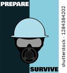 survivalist design with gas...   Shutterstock .eps vector #1284384202