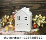white house gift in wooden... | Shutterstock . vector #1284385912