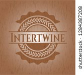 intertwine realistic wood emblem   Shutterstock .eps vector #1284387208