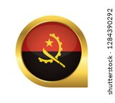flag of angola  location map... | Shutterstock .eps vector #1284390292