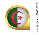 flag of algeria  location map... | Shutterstock .eps vector #1284390295