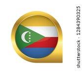flag of comoros  location map... | Shutterstock .eps vector #1284390325